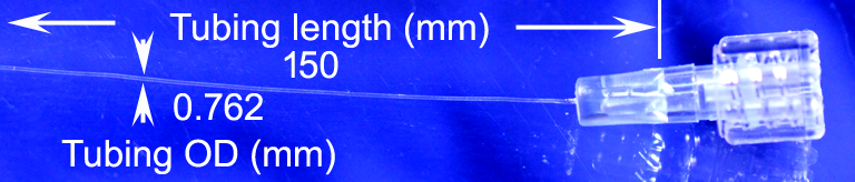 TF-762 microcatheter 150 mm connected to female Luer